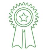 medalla pequeña icono. Servicio de calidad